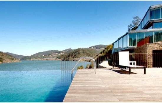 Os hoteis nas encostas do Douro oferecem vistas panorâmicas fantásticas
