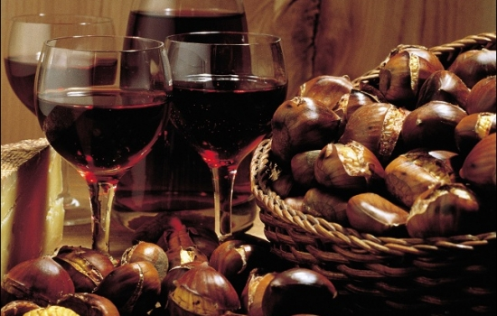 Aprecie as suas castanhas com um bom vinho do douro a acompanhar