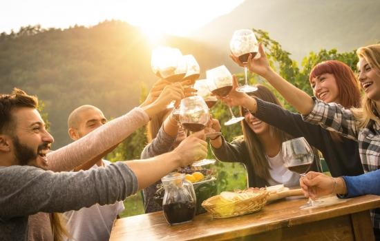Prova de vinhos na altura das vindimas