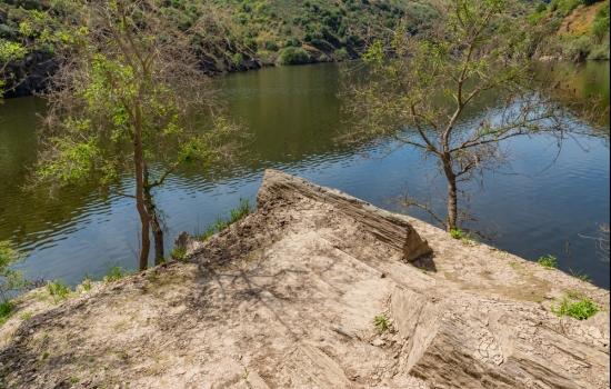 Uma rocha pré-histórica neste local considerado Património da Humanidade
