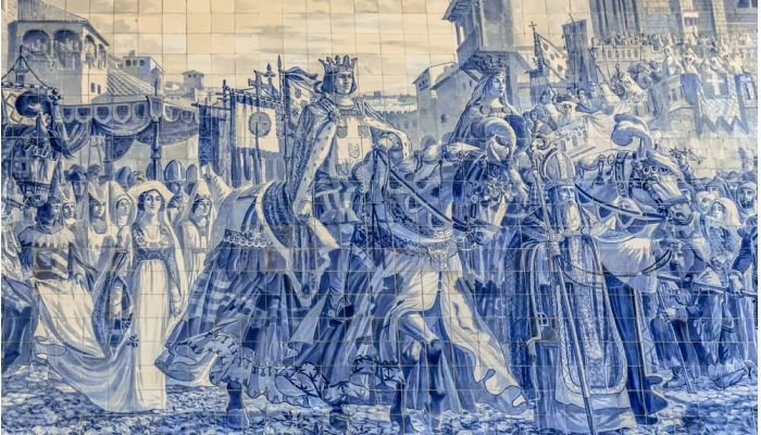 Entrada de D. João I e de D. Filipa de Lencastre no Porto, para o casamento real (século XIV).