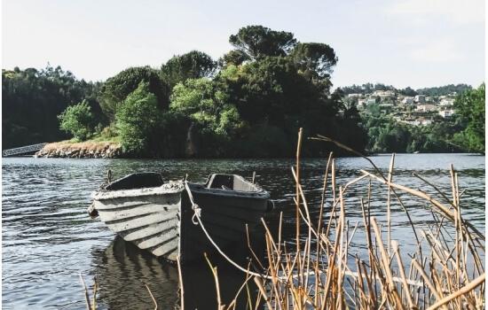 A pequena Ilha situa-se no cruzamento entre o Rio Douro e o Rio Paiva